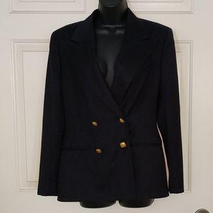 Ralph Lauren Navy Blue Wool Blazer